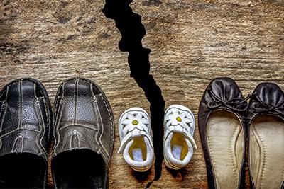 parent shoes with child shoes